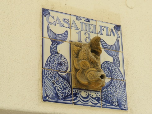 Many of the houses in the old town were decorated with colourful or whimsical tiles.