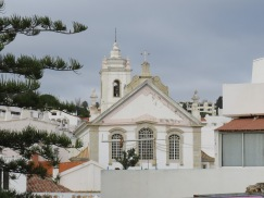 I climbed a steep hill and when I looked back I had this wonderful perspective on the church