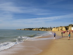 Thee lovely beach at Armação de Pêra.