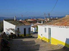 The very tiny village of Azinhal dos Mouros. Probably about 12 - 15 homes, most of them appeared vacant but well taken care of.