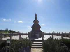 The actual STUPA monument......the sun was blazing down and it was impossible to get a clearer shot.