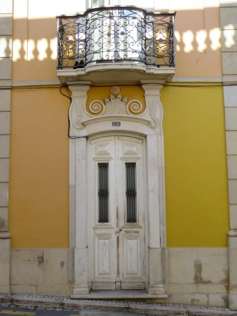 This is the doorway to a Youth Hostel in Tavira.