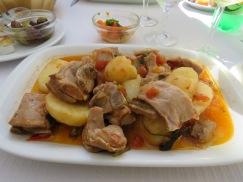 Rod and I both enjoyed the Borrego estufado (lamb)
