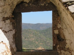 I climbed to the top of the second old windmill and enjoyed the view from the windows