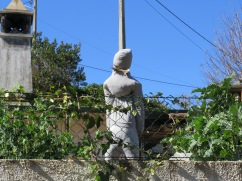 I didn't find this scarecrow very attractive, it looked more like a warning to people rather than birds!!