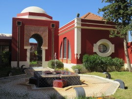 A Muslim Museum and part of the gardens.