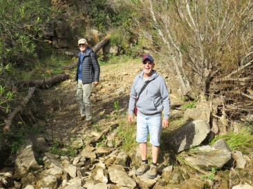 Harald and André having just crossed one of our eventual five river crossings.